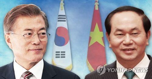 韩国媒体报道该国总统文在寅访越之旅