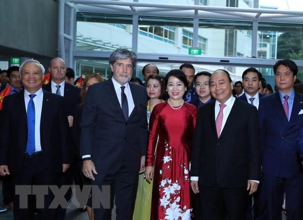 阮春福总理会见旅居新西兰越南人
