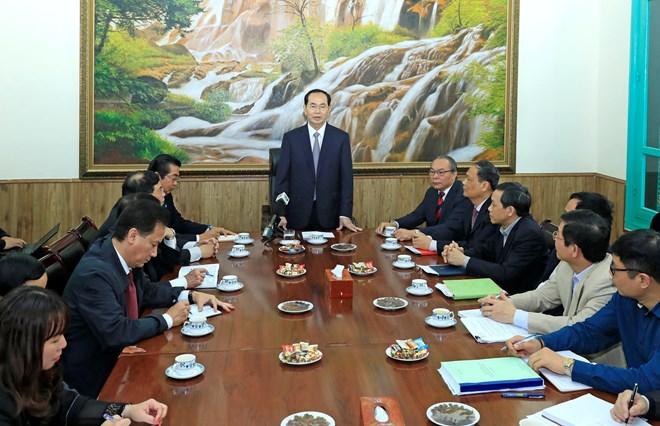 国家主席陈大光与中央司法改革指导委员会常设办公室座谈
