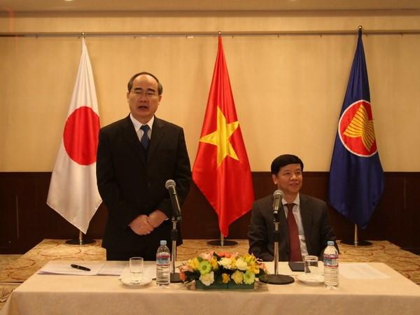 胡志明市委书记阮善仁对日本进行访问