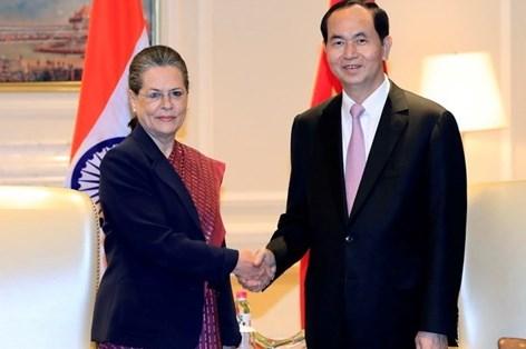 越南国家主席陈大光访印期间的各项活动