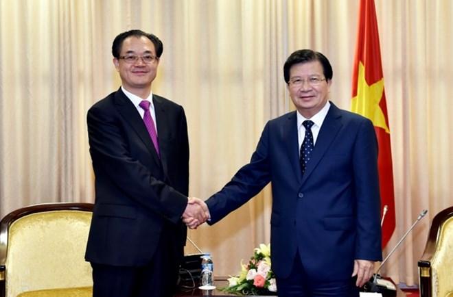政府副总理郑庭勇会见中国重庆市副市长刘桂平