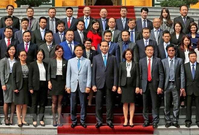国家主席陈大光会见2018年越南驻外商务参赞