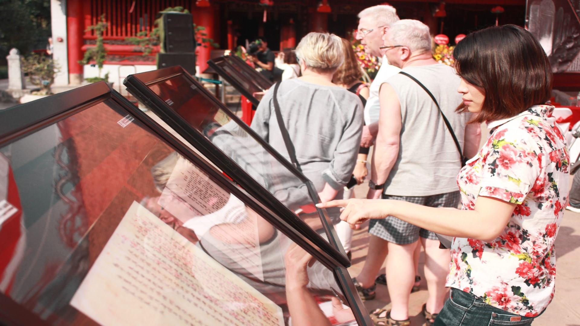"""""""世界资料遗产中的越南科举""""展览在河内市举行"""