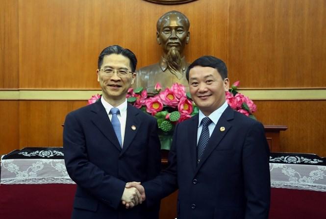 越南祖国阵线领导会见上海市政协代表团