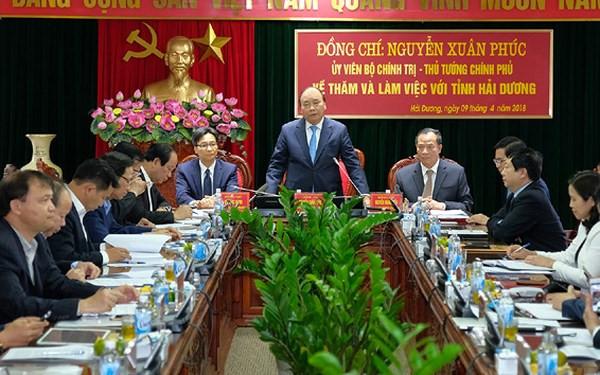 政府总理阮春福:充分发挥海阳省所有优势与潜力