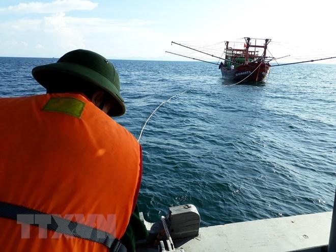 广南省边防部队成功救助48名海上遇险渔民