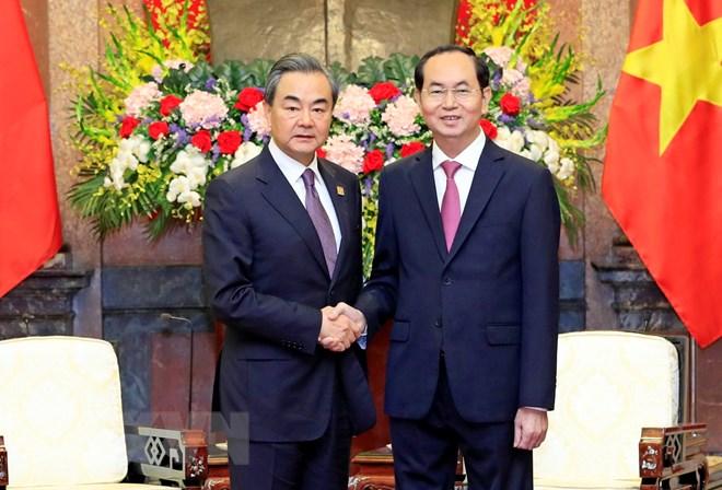 国家主席陈大光会见中国外交部部长王毅