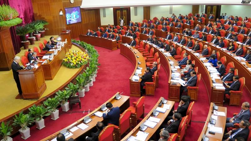 越共十二届七中全会就社会保险政策改革提案进行讨论
