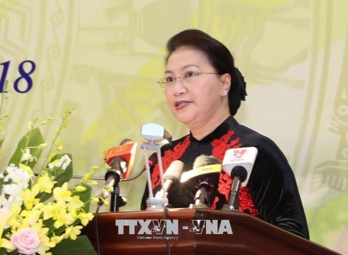 国会主席阮氏金银出席越南科技院成立43周年纪念大会