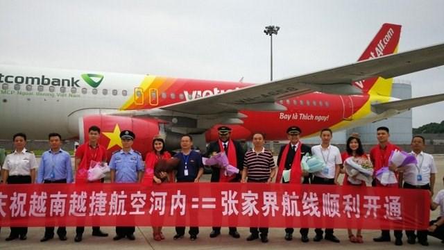 越南河内到中国张家界旅游航线正式开通