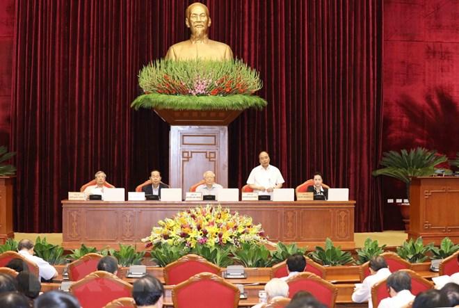 越共十二届七中全会第二天:讨论有关干部工作的提案