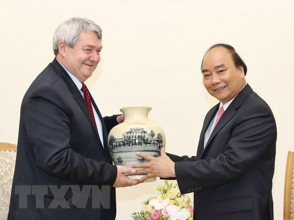 阮春福总理会见捷克众议院副议长