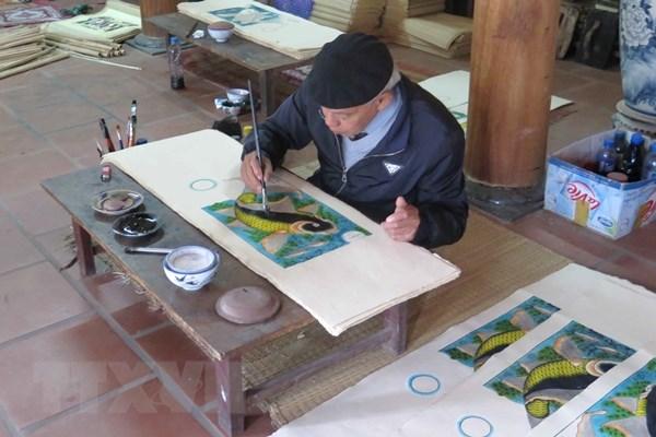 """越南向联合国教科文组织提交申请建议将""""东湖民间画制作业""""列入非物质文化遗产"""