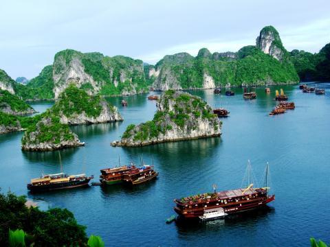 广宁省下龙市面向无垃圾旅游 打造绿色下龙湾