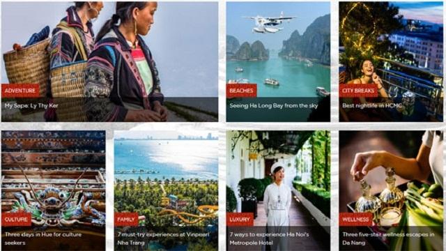 越南旅游总局亮相旅游促进网站