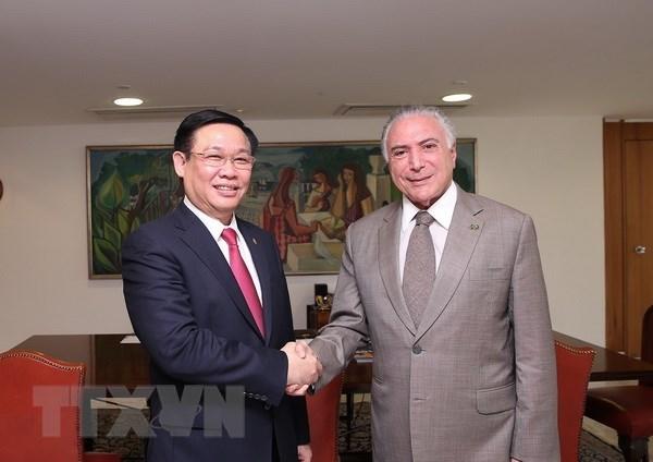 政府副总理王廷惠对巴西进行正式访问