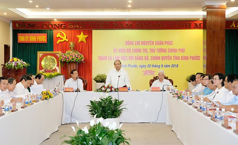 阮春福总理与平福省领导人举行工作座谈会