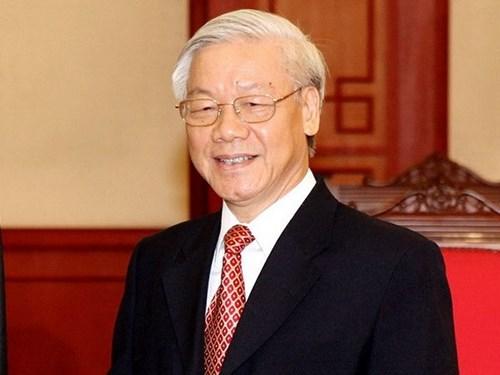 越共中央总书记阮富仲向柬埔寨人民党主席洪森致以贺电