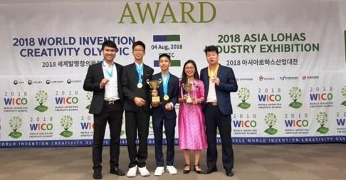 越南学生代表团在世界发明创意竞赛中取得好成绩