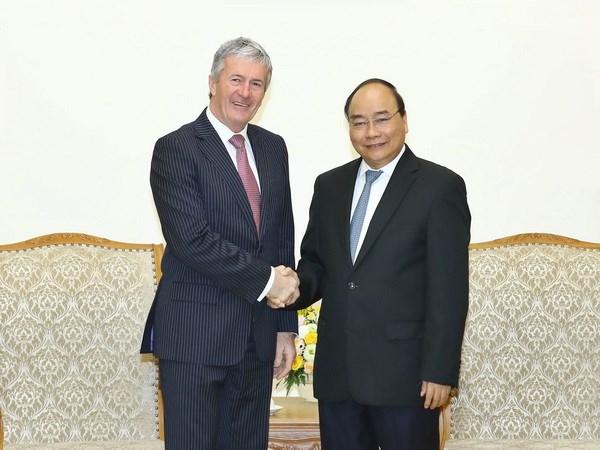 越南政府总理阮春福会见新西兰农业部长达米安•奥康纳