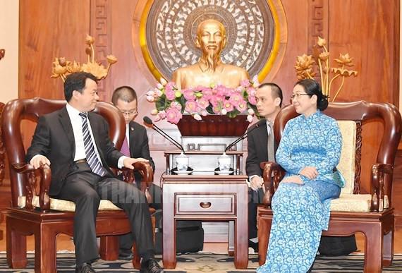 胡志明市领导人会见中国共青团中央高级代表团