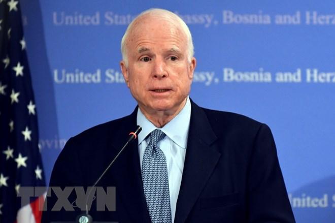 美国驻越南大使馆举行约翰•麦凯恩吊唁活动
