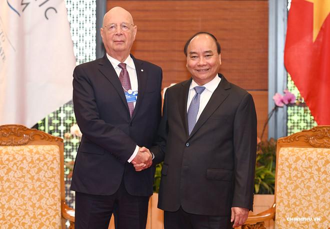 WEF ASEAN 2018:阮春福总理会见各国与会代表