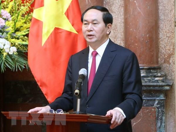 越南领导人致电祝贺越埃建交55周年