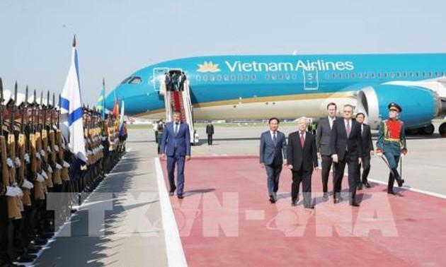 越共中央总书记阮富仲开始访俄