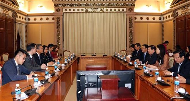 加大越南胡志明市与中国香港的合作力度