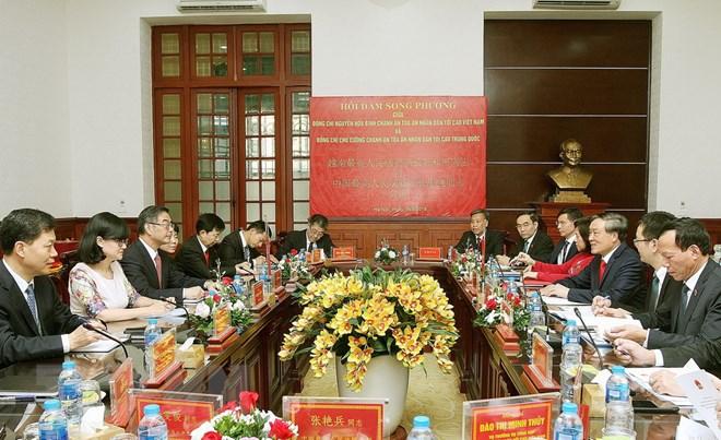 越中两国最高人民法院增强合作