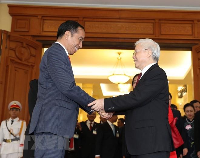 印尼总统维多多和夫人圆满结束对越南的国事访问