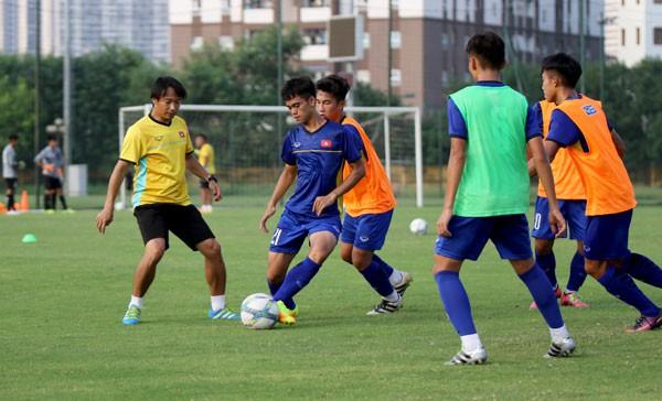 越南U16队积极迎战2018年亚洲U16足球锦标赛