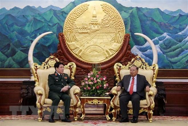 继续深化越老人民军总政治局乃至两国防务领域合作
