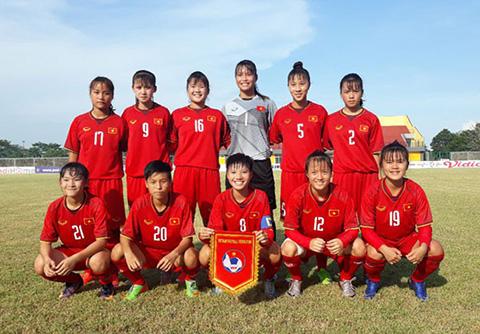 2019年U16女足亚洲杯预选赛第一阶段:越南14比0大胜巴林