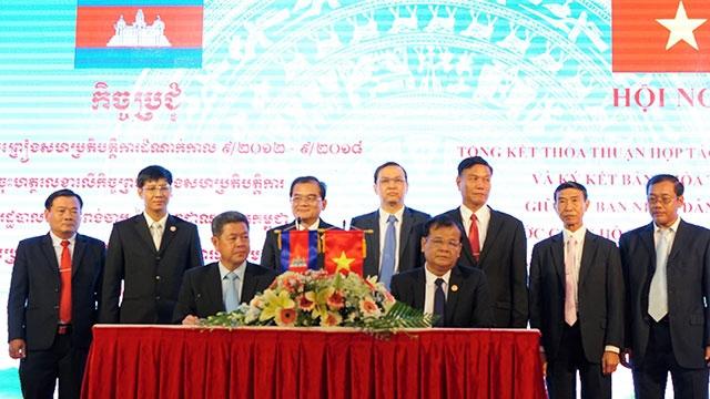越南西宁省同柬埔寨磅湛省签署2018-2022年合作协议