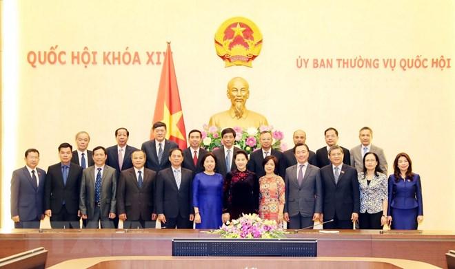 国会主席阮氏金银会见越南驻外代表机构首席代表