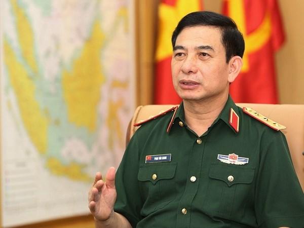 越南人民军高级军事代表团访问泰国