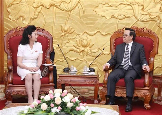 越南希望巩固和加强与朝鲜的传统友好合作关系