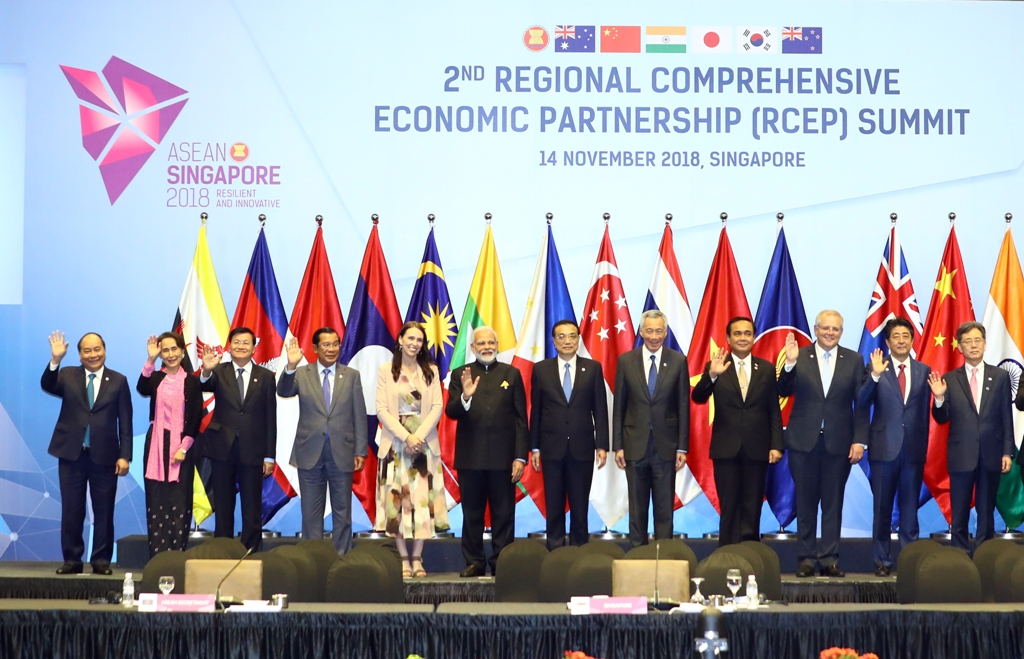 力争在2019年结束《区域全面经济伙伴关系协定》谈判