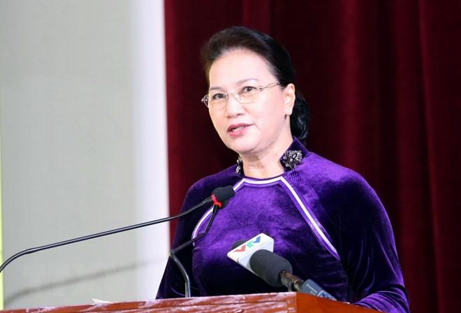 越南国会主席阮氏金银出席财政学院越南教师节庆祝仪式