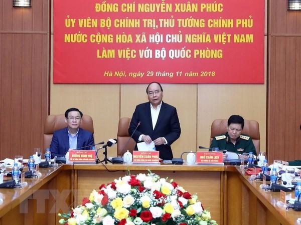 阮春福总理:党和国家一向关注建设面向正规化、逐步现代化的军队力量