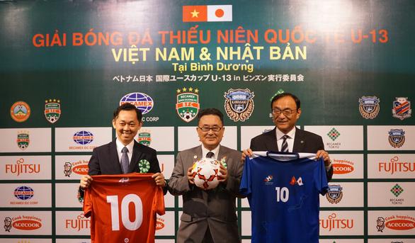 2018年越南-日本U13国际少年足球赛在平阳省举行