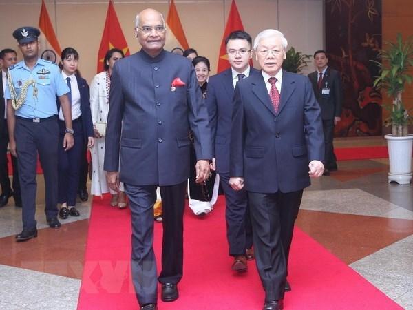 印度总统拉姆•纳特•科温德圆满结束对越南的国事访问