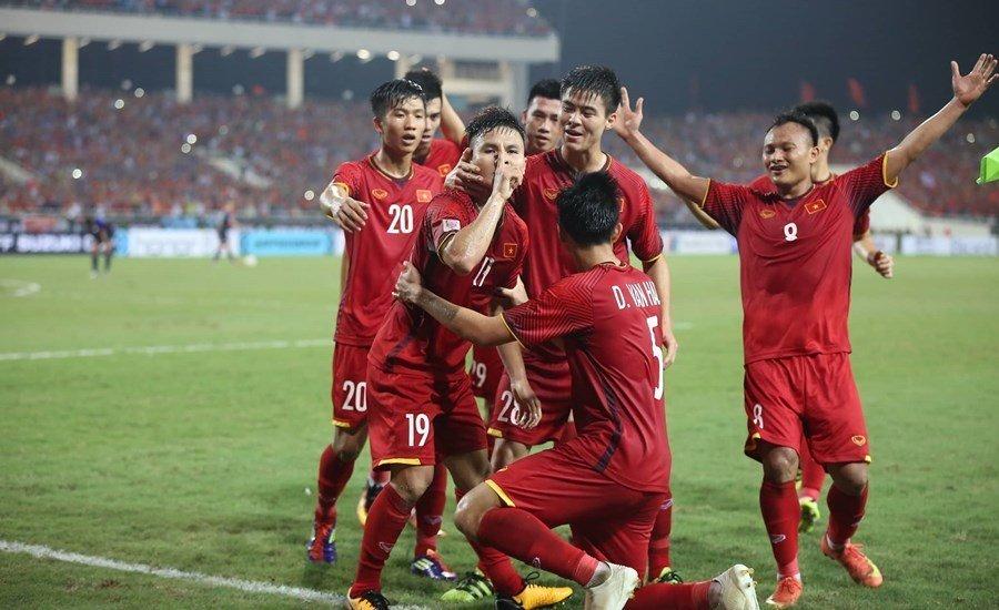 越南队晋级2018年铃木杯东南亚足球锦标赛决赛