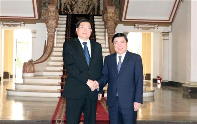 中国湖南省希望与越南胡志明市加强代表团互访