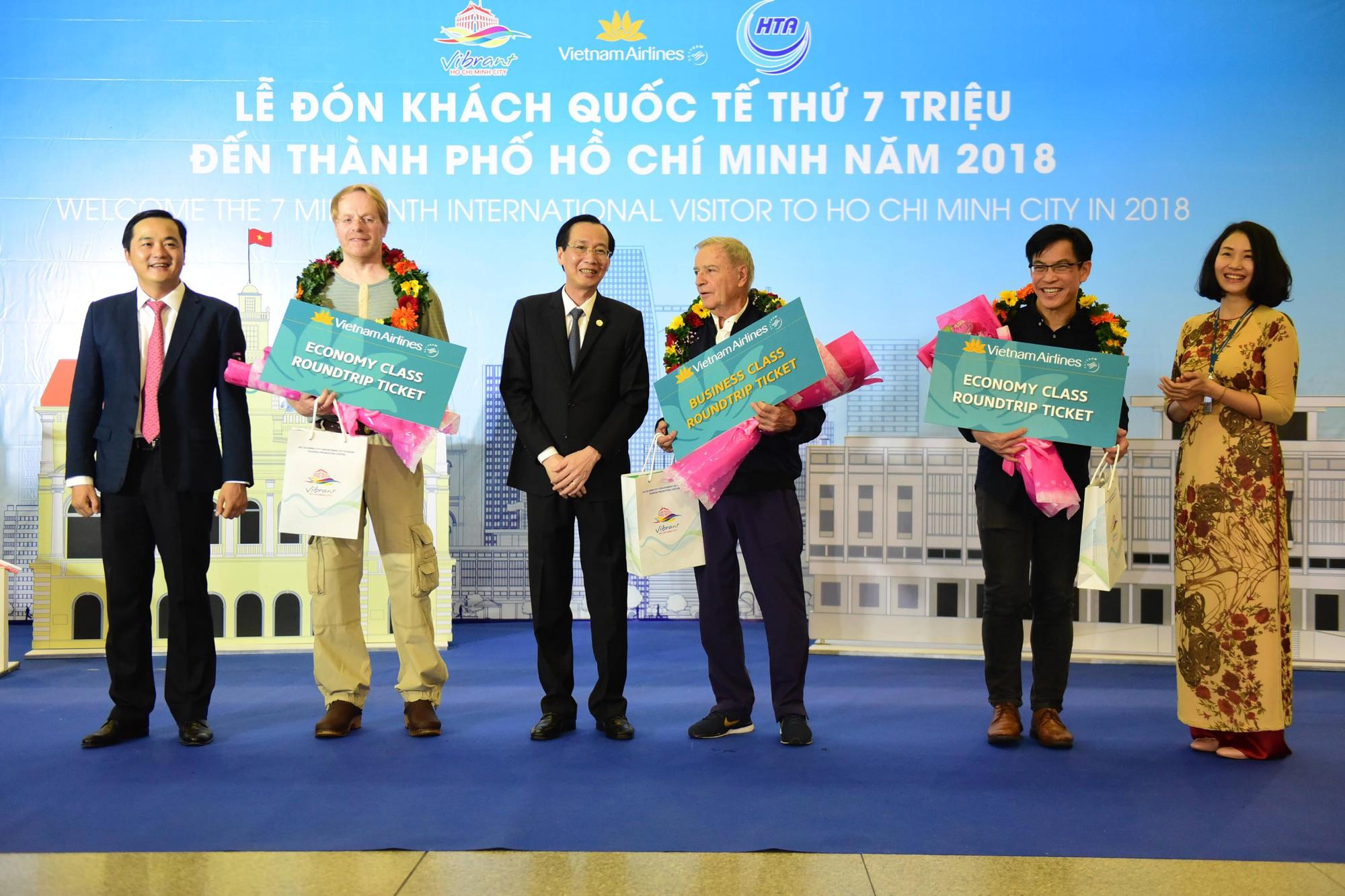 胡志明市迎来2018年第700万名国际游客