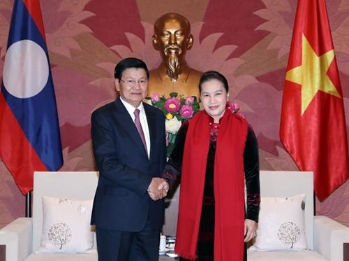 越老两国国会的合作关系日益深入务实有效发展