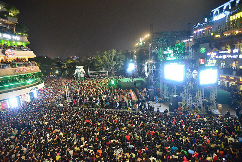 越南全国各地人民喜迎2019年新年欢乐气氛